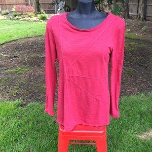 Neon Buddha red long sleeve cotton top